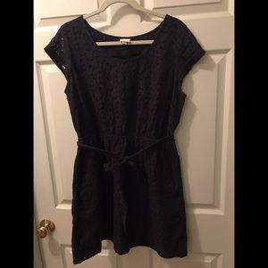Merona Navy Lace Short Sleeve Dress Size XL